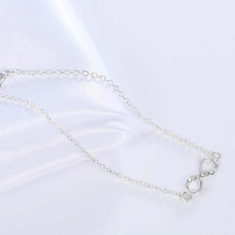 Todorova браслеты с кулоном в форме бесконечности для женщин модные ювелирные изделия кристалл камни стразы браслет Бесконечность номер 8 цепи браслеты