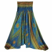 New 2017 Floral Print Harem Pants Women Aladdin Pants Thai Pants Loose Jumpsuit Siamese Yoga Exercise Sport Pants
