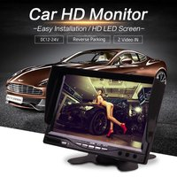 Car Truck BUS 7 Inch12V 24V HD LED Stand Monitor Screen with Rear View Reverse Backup Camera Parking Kit Combo Home CCTV