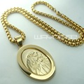 Men Women 18k Yellow Gold Filled The Virgin Mary Pendant Chain Necklace N250