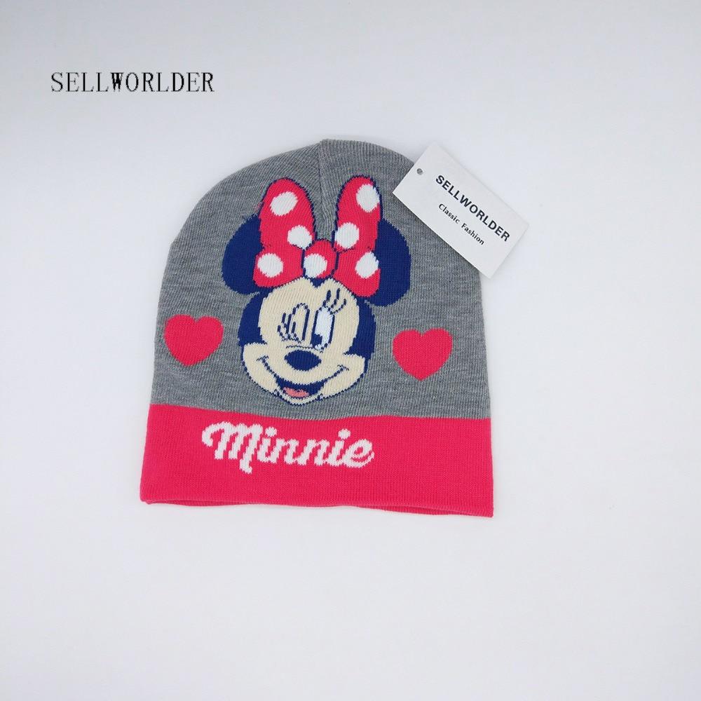SELLWORLDER Baby Kids 2017 Winter Warm Hat Cute Minnie Cartoon Character Printed  Skullies & Beanies