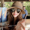 M Summer Ladies Hat British Jazz Cap UV Protection Sun Visor Panama Hat