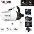 VR BOX Pro Google Картонный Шлем Виртуальной Реальности Гарнитура Глава Гора 3D Очки Смарт Bluetooth Беспроводной Пульт Дистанционного Управления Геймпад