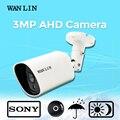 Lin wan ahd câmera à prova d' água sony imx124 3.0mp full hd câmera de segurança câmera de vigilância de vídeo com lente 5mp