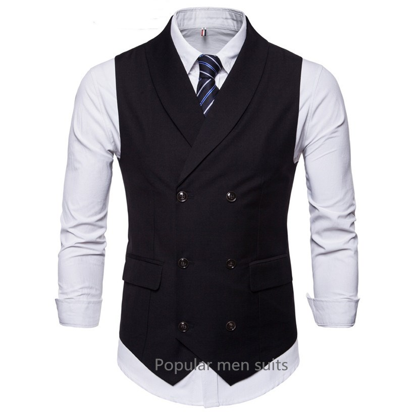 US $20.66 35% OFF|Popular 2018 new fashion casual mens suit vest good quality groom wedding slim fit business mens dress waistcoats sleeveless in