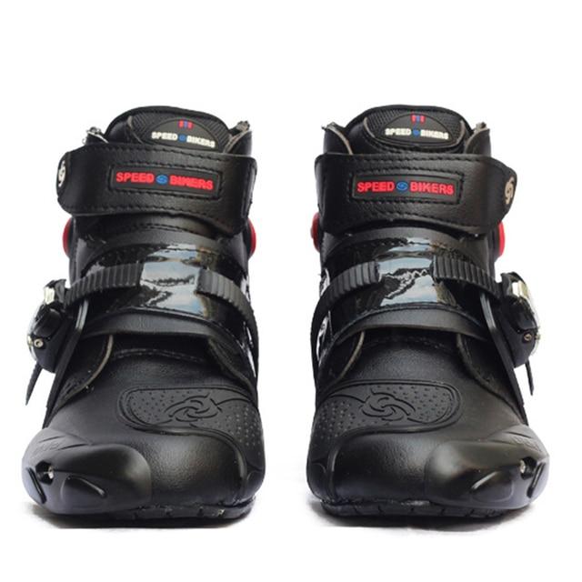 أحذية سباق للكاحل من Moto rcycle أحذية جلدية للسباق وركوب الدراجات النارية في الشارع أحذية للتجول rbike أحذية واقية للتجول