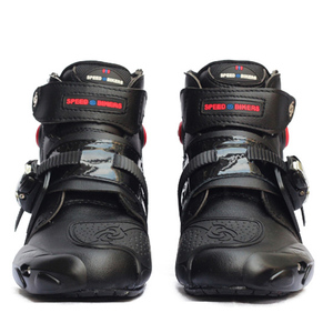 Image 1 - Motorcycle Ankle Racing boots speed BIKERS leather race riding street moto boots Motorbike Touring Chopper protective gear Shoes