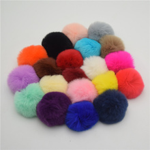 25pcs 5cm  Very Soft Rex Rabbit Fluffy Fur Ball  Pompons for Earring Ornaments Plush Ball Hairpin Headdress