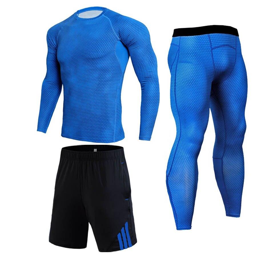 Men Compression Jogging Suit Winter Thermal Underwear Sports Suits Warm Men's Tracksuit Rash Guard MMA Clothing Track Suit