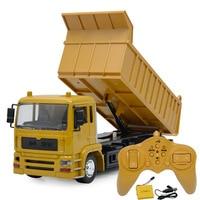 1:14 remote control hydraulic dump truck machine on the radio control 10CH kids car toys electric loader cars