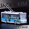 Alta Simulación Exquisita Colección Juguetes Kaiwei Car Styling Trolebús Modelo 1:30 de Aleación Modelo de Autobús Rápido y Fruious