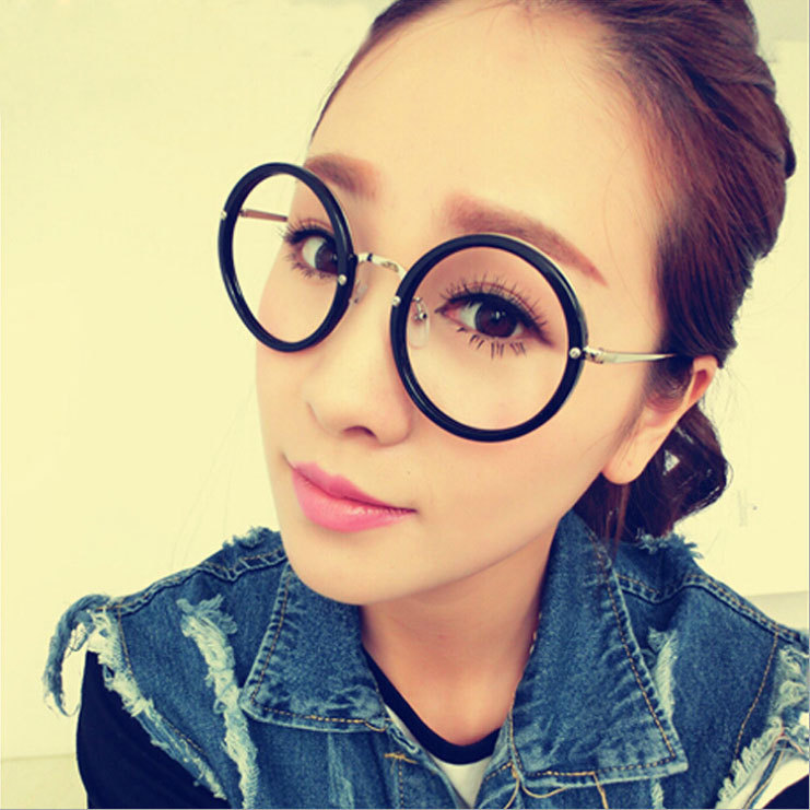 fbe149abfce big round glasses frame Alloy frame metal leg vintage korean glasses frames  fashion eyeglasses frames men-in Eyewear Frames from Apparel Accessories on  ...