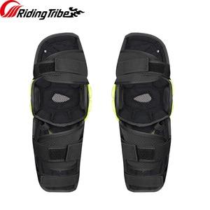 Image 4 - 3 colors PRO BIKER 2018 Motorcycle knee protector Knee sliders motosiklet knee Protective Gear Protector Guards Kit