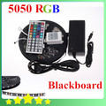 Cool ! Waterproof 5050 Black PCB LED Strip RGB Black-matrix with Lights and 44Key controller + 12V 6A Power Source Free Shipping