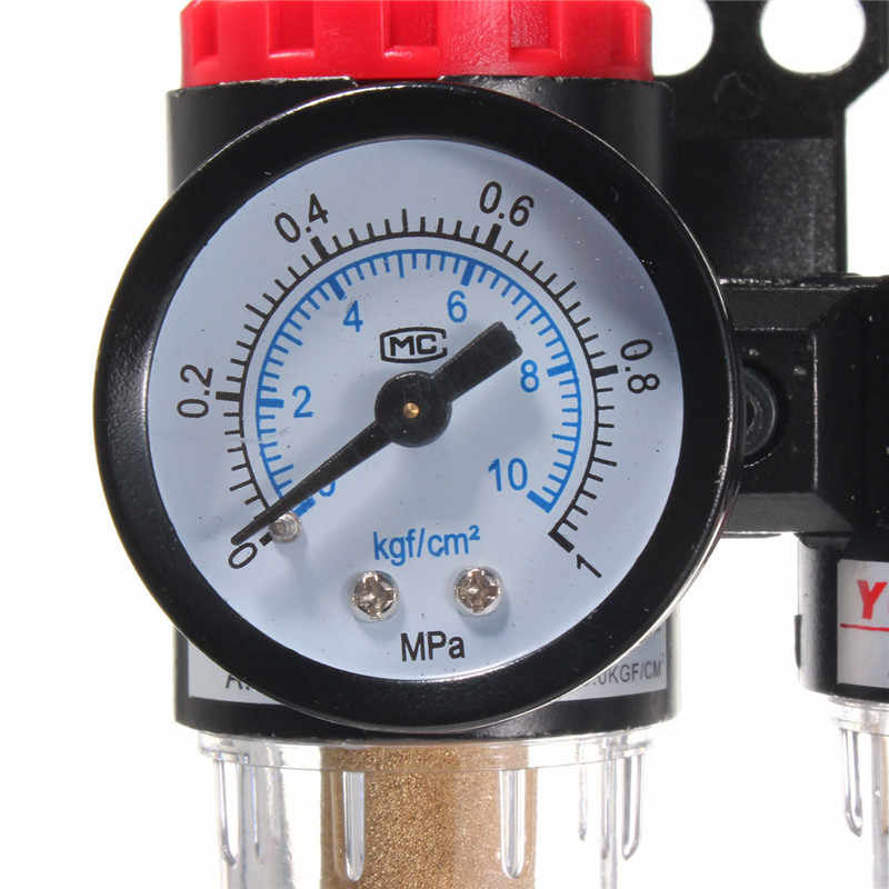 "AFR2000 + AL2000 فلتر هوائي G1/4 ""وحدة معالجة الهواء منظم ضغط ضاغط صمام تخفيض النفط قياس فصل المياه"