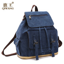 Vintage Backpack For Women Shoulder Bag Backpacks Bags Mini for teenager casual solid canvas backpack school