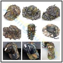 Adjustable Tactical Climbing 3D camouflage Baseball cap Outdoor sport fishing hat man hunting camping Jungle Maple Leaf