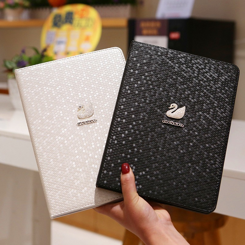 Diamond Leather Case For IPad 9.7 2018 2017 IPad Air 2 Air1 Multiple Angles Stand Smart Protective Cover For IPad 6th Generation