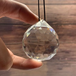 50MM Feng Shui Hanging Facted Crystal Ball Prisms Glass Chandelier Parts Suncatcher Pendant DIY Hanging Ornament