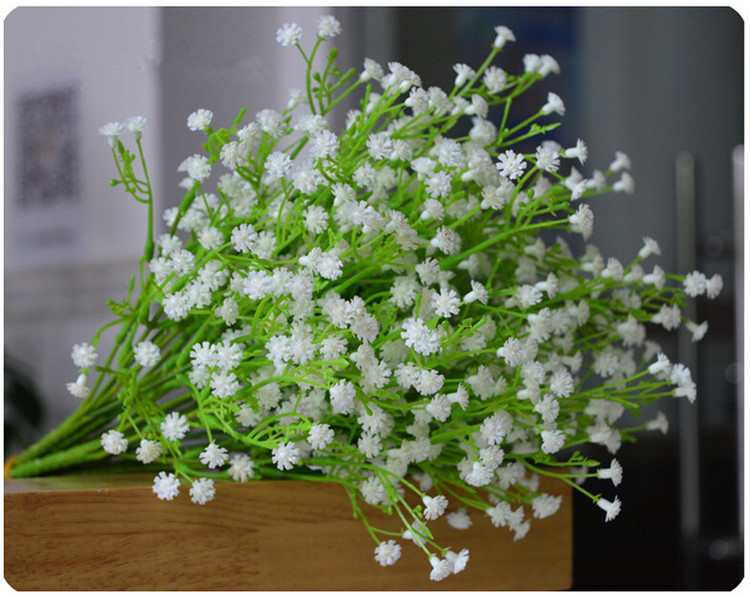 Artificial flowers gypsophila babys breath silk flower plant for artificial flowers gypsophila babys breath silk flower plant for wedding party home decoration artificial grass in artificial dried flowers from home junglespirit Gallery