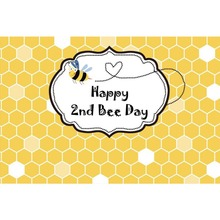 Laeacco Bee Happy Baby Birthday Party Cartoon Poster Portrait Photographic Backgrounds Photography Backdrops For Photo Studio