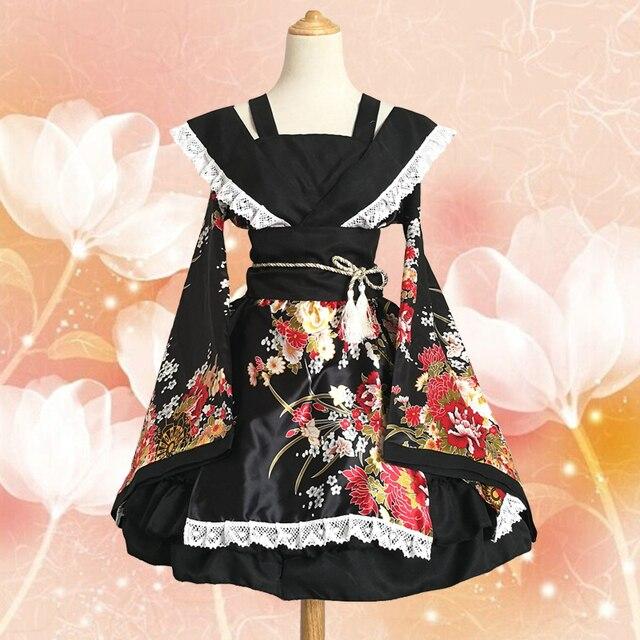 90cce71836c34 US $49.49 10% OFF|GokuRakuJoudo Courtesan Cosplay Costume Lolita Japan  Anime Harajuku Kawaii Dance Maid Kimono For Adult Women S 3XL on  Aliexpress.com ...