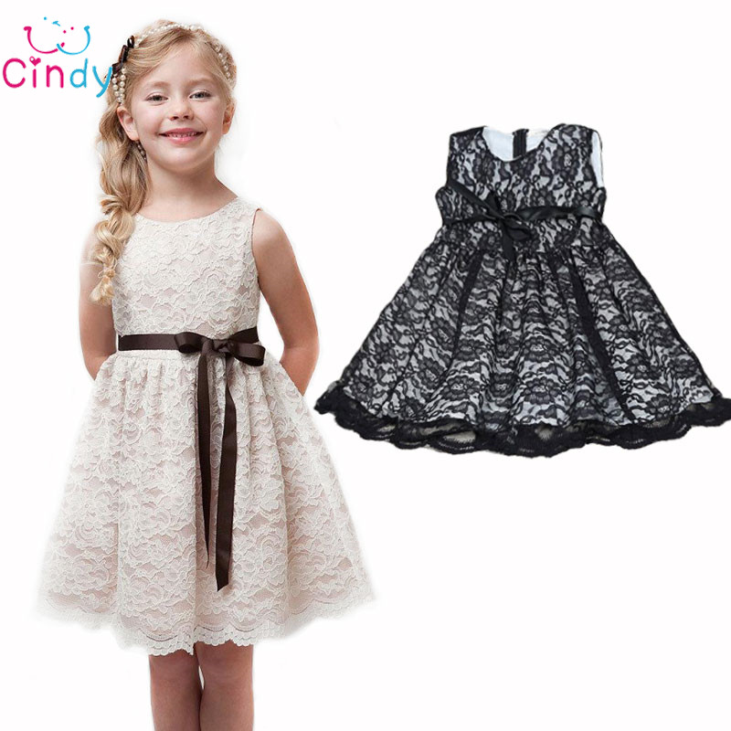 2016 SUMMER NEW children clothes girls beautiful lace dress quality white baby girls dress teenager kids dress for age 2-9