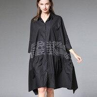 Large Size 3xl 4xl Women's Summer Blouse New Loose Print Cotton Shirt Autumn Tops Baggy Blouses Oversized Female Tunics