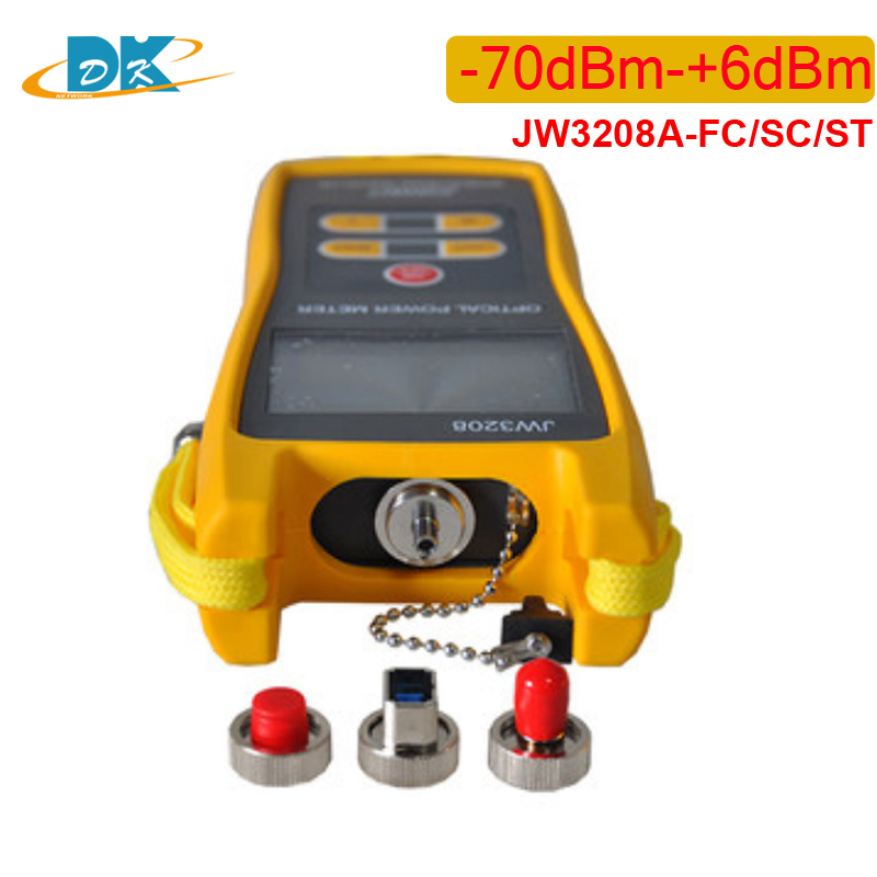JW3208 fiber optic power meter for FTTH 800~1700nm -70dBm-+6dBm Handheld Optical Power Meter 2.5mm FC/SC/ST
