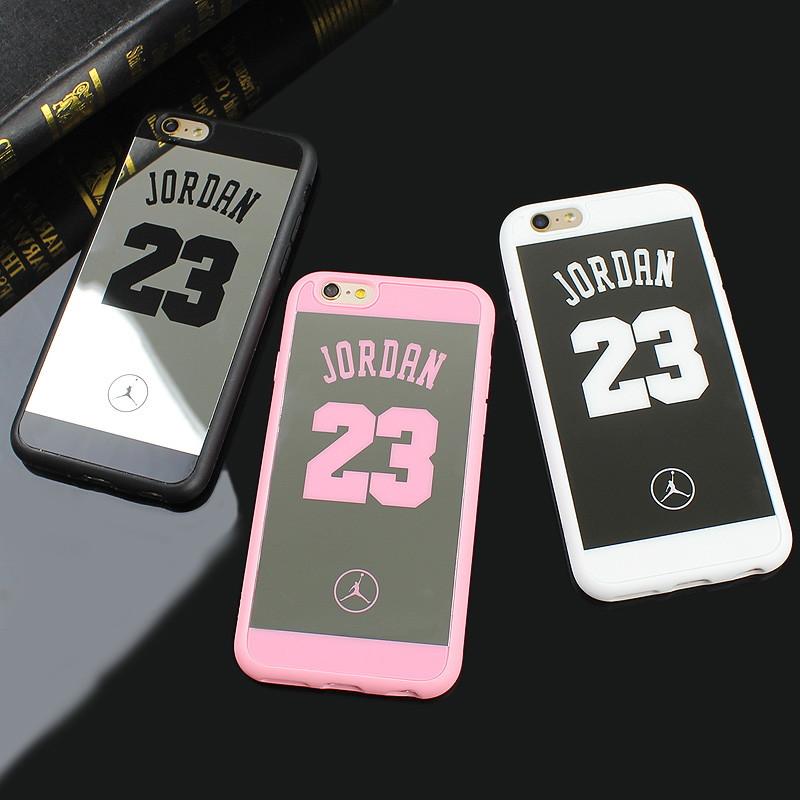 sports shoes de653 67f2a US $2.99 |Jamular Sport Style Jordan 23 Cases For Iphone SE 5 5s 6 6s 7 8 X  Back Cover Mirror Shell For iPhone 8 7 6s 6 Plus Fundas Coque-in Fitted ...