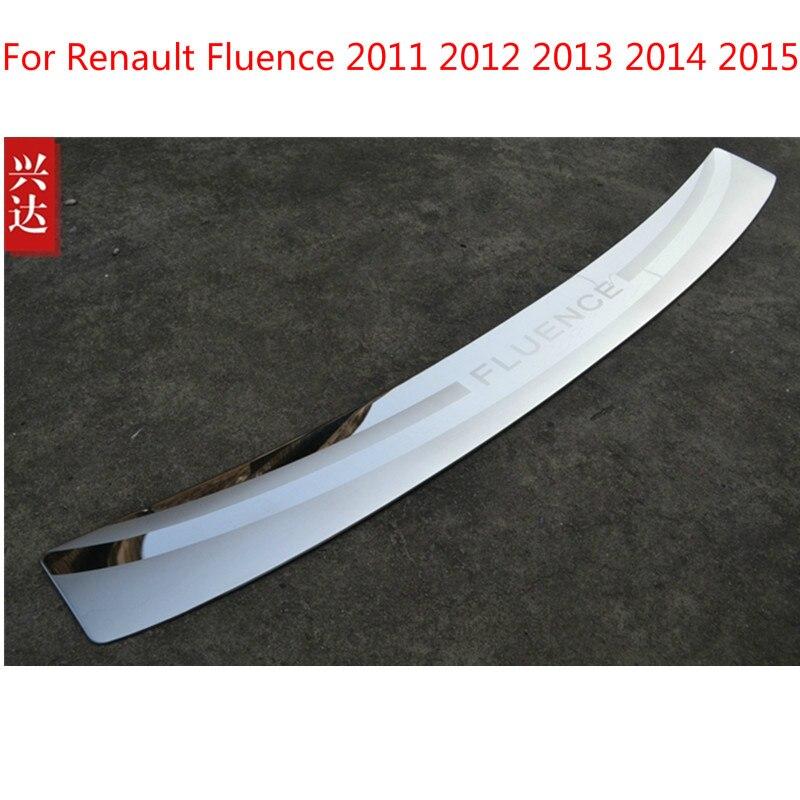 Für Renault Fluence 2011 2012 2013 2014 2015 Hohe qualität edelstahl hinterer Stoßdämpfer-schutz-schwelle Auto-styling Auto-deckt