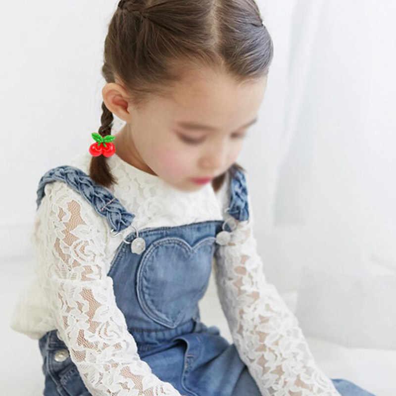Accesorios para el cabello las chicas populares dulce cuerda de pelo lindo sombreros 2 unids/lote niños bebé elástico bandas de goma para el cabello bandas gran oferta