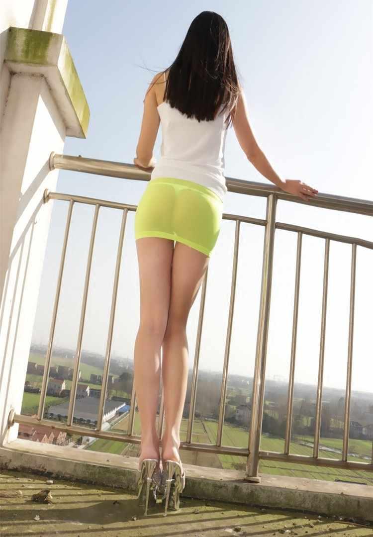 aec14ad2b5 ... Hot Sexy See Through MINI Skirt Transparent Sheer Skinny Tight Pencil  Cute Skirt Night Club Dance ...
