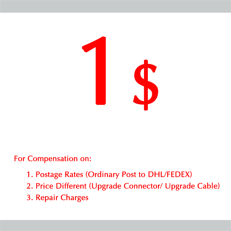 Hisenior Earphone Post Rates Compensation Pay Repair or Price Compensation Payment