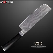 Xyj marca cuchillo de cocina 7 pulgadas chopper cuchillo de acero japonés vg10 damasco cuchillo multiusos de la cocina herramientas de cocina nueva llegada