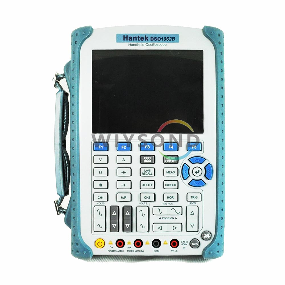O018 Portable Hantek DSO1062B 60MHz HandHeld Scopemeter 1GSa/s Oscilloscope by EXPRESS SHIPPING (EMS / DHL) updated from dso 1060 hantek dso1062b handheld oscilloscope 2 channels 60mhz 1gsa s sample rate 1m memory depth 6000 counts dmm
