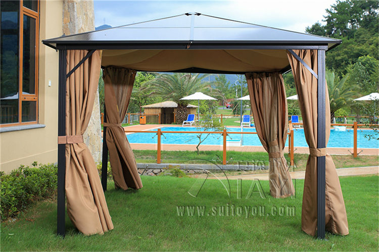 3*3 meterhigh quality durable garden gazebo outdoor tent PC board canopy sun shade pavilion furniture house