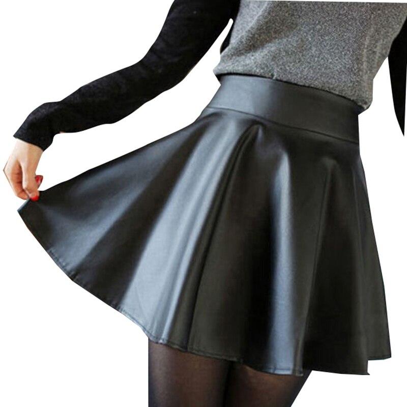 Popular Leather Pleated Mini Skirt-Buy Cheap Leather Pleated Mini ...
