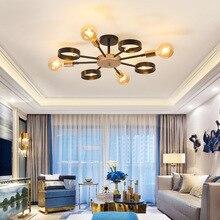Nordic Post-modern LED Ceiling lamps living room restaurant retro fixtures loft hanging lighting Bar Ceiling lights цена 2017