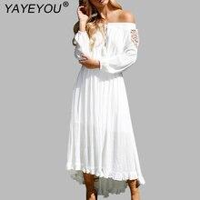 2f08723e47b4e Buy bohemian boho lace white beach dress and get free shipping on ...