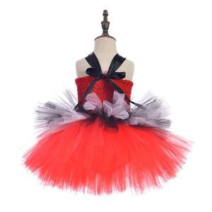 Image 5 - קרקס מנהל קרקס בנות טוטו שמלה אדום ושחור לבן בנות יום הולדת ילדי שמלת מסיבת חג מולד ליל כל הקדושים תחפושת תלבושות