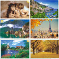 1000pcs Luminous paper puzzle landscape jigsaw,education learning,romantic kiss gift for friends kids adult children boys girls