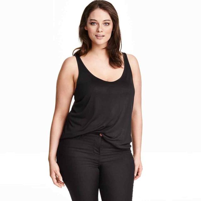 Весна Лето Новый Топы Женщины Без Рукавов Шею Свободно Т рубашка Плюс Большие Размеры 3XL 4XL 5XL 6XL Дамы Майки Singlets