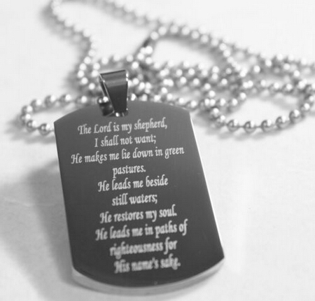 new fashion low price bible dog tag cheap stainless steel prayer