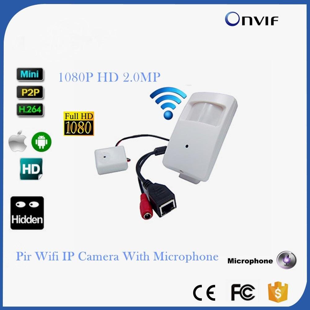 1080 P мини ip-камеры Wifi безопасности ПИР сети Камера Pir IP-камера детектор движения PIR Поддержка звук пикап Беспроводной IP-камера