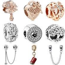 c4a01f75f654 Btuamb Europea Maxi esmalte lindo conejo de cristal Flor de corazón de amor  cuentas de Pandora pulseras mujeres joyería regalo h.