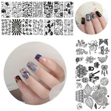 NY! 1pc Nail Stamping Plates Mal YICAI 01-40 3D Blomst Serie Bildeskjermer Nail Art Manicure Templates Beauty Polish Tools