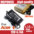 MDPOWER For ACER Aspire 3750ZG 3820TG 3830TG laptop power supply power AC adapter charger cord 19V 4.74A