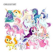 Pvc Stickers Colorful Unicorn 32 Pcs