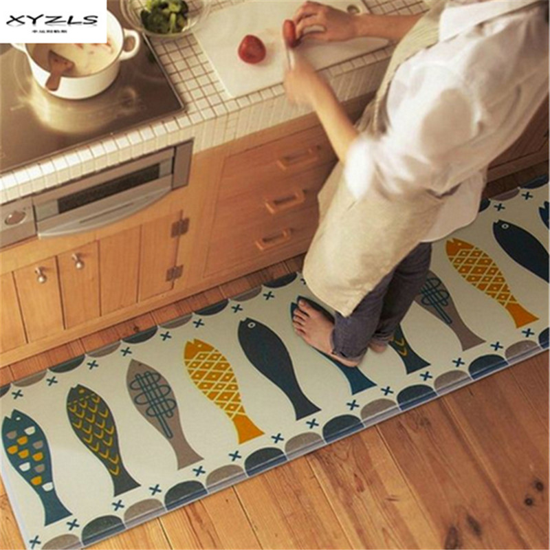 6 Tips To Using Coral In The Kitchen: XYZLS Anti Slip Fish Door Mats Alfombras Hall Bathroom
